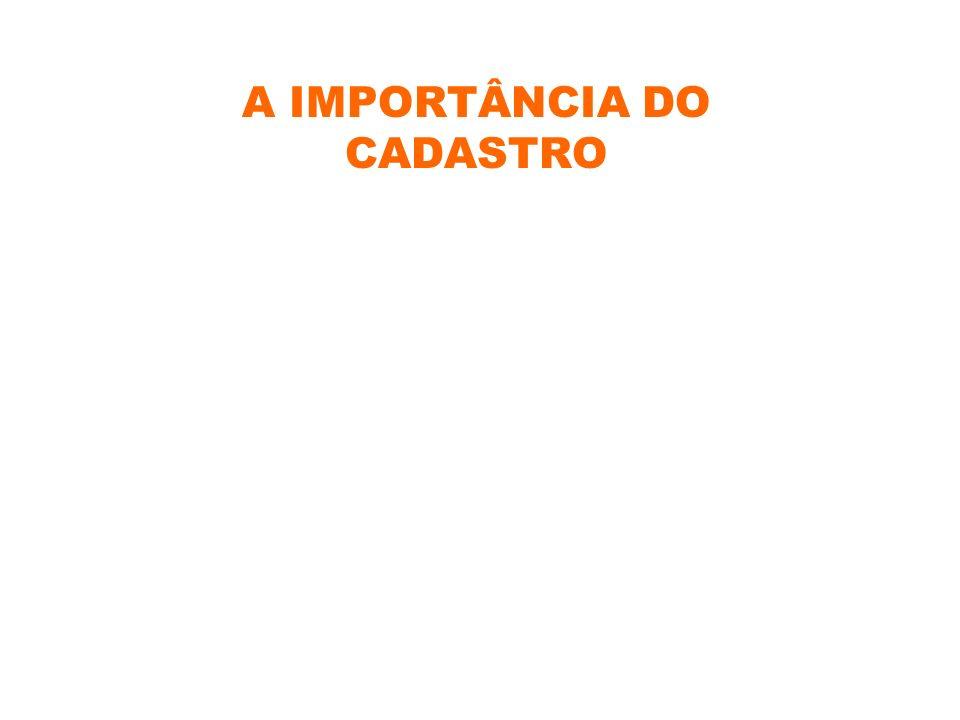 A IMPORTÂNCIA DO CADASTRO