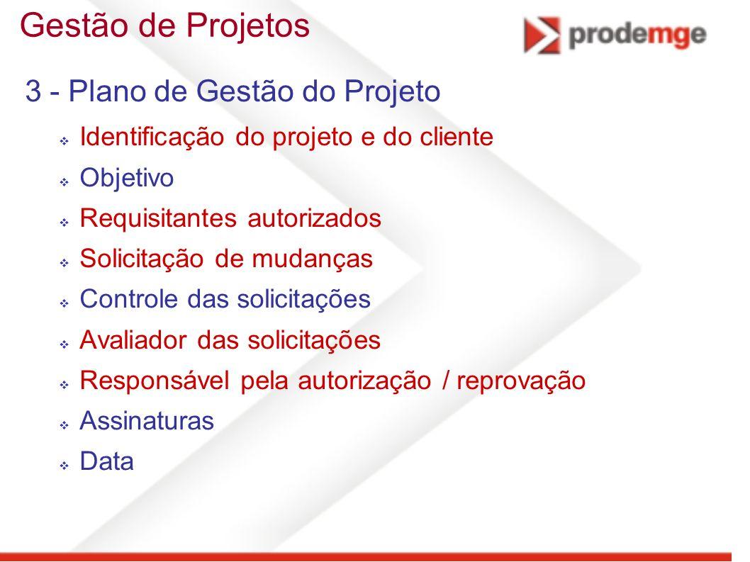 Gestão de Projetos 3 - Plano de Gestão do Projeto