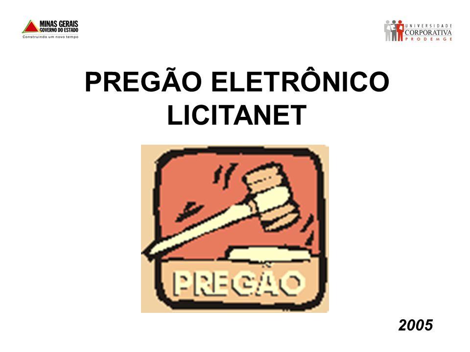 PREGÃO ELETRÔNICO LICITANET