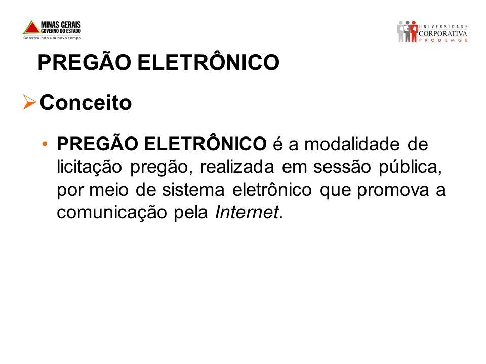 PREGÃO ELETRÔNICO Conceito