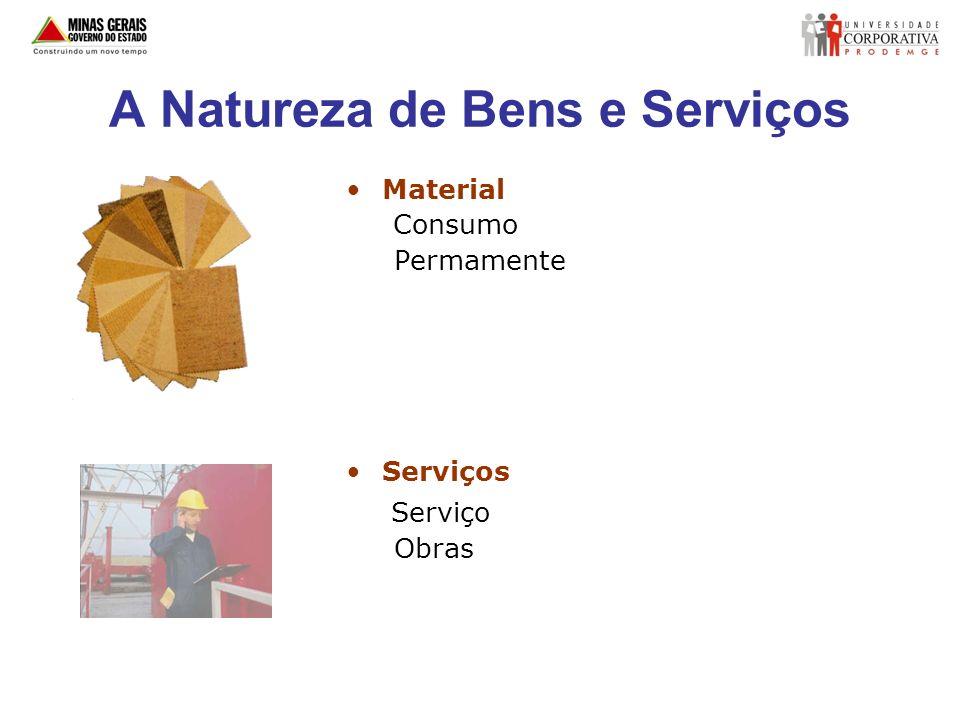 A Natureza de Bens e Serviços