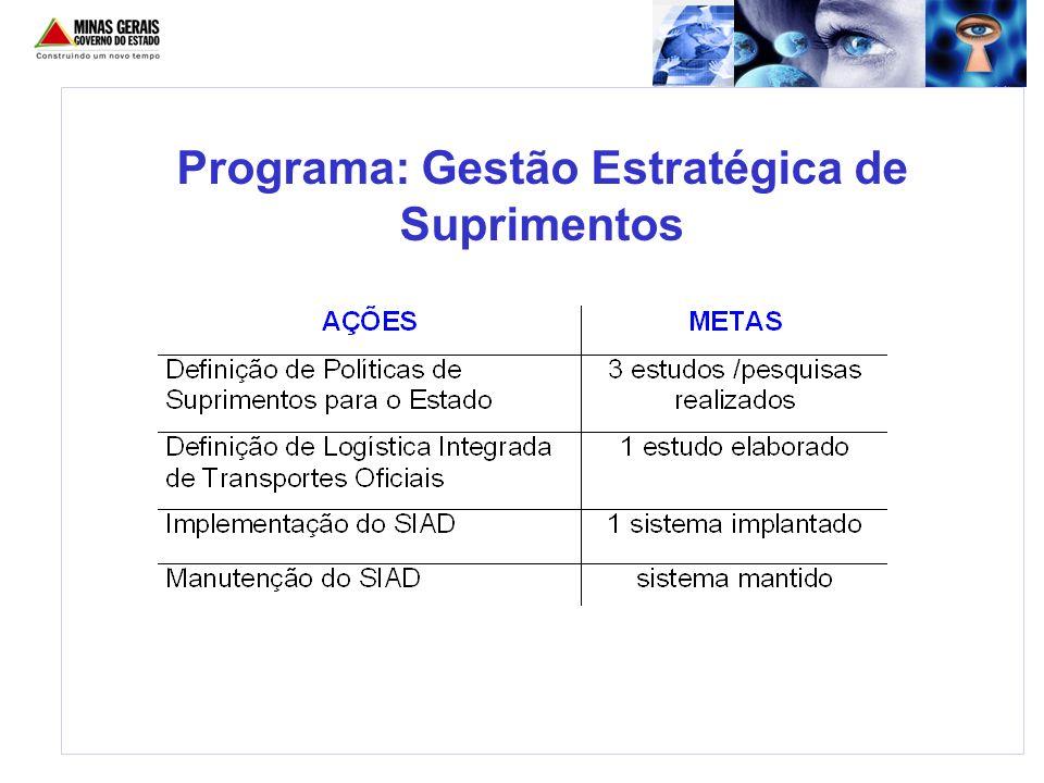 Programa: Gestão Estratégica de Suprimentos
