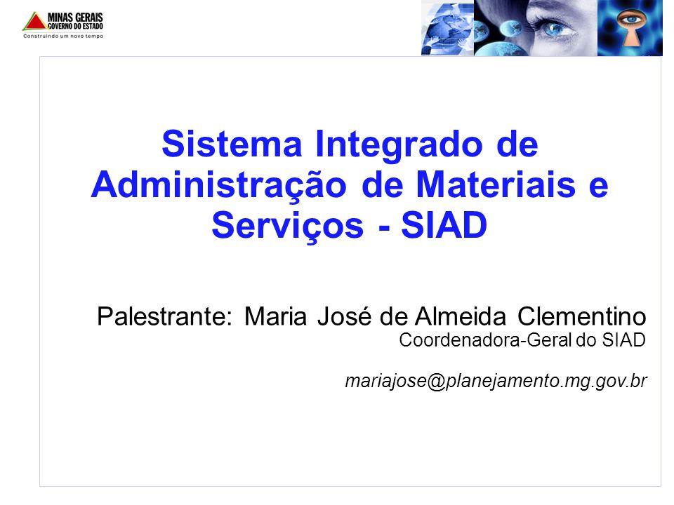 Sistema Integrado de Administração de Materiais e Serviços - SIAD
