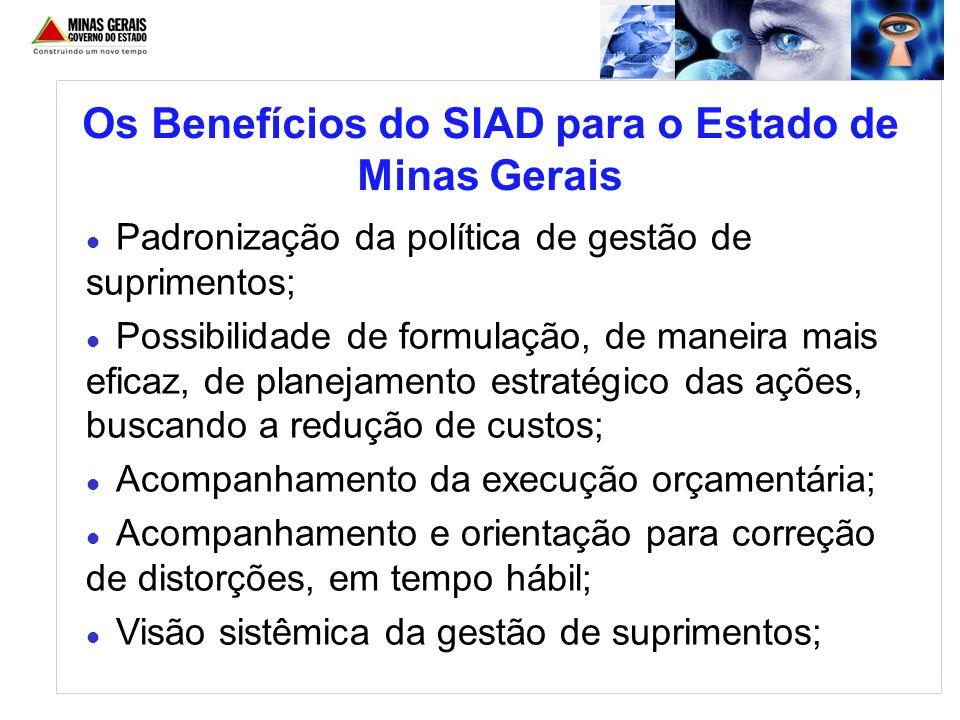 Os Benefícios do SIAD para o Estado de Minas Gerais