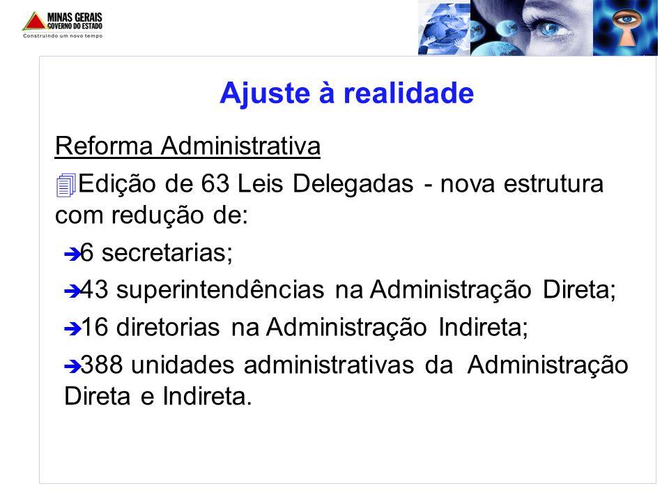 Ajuste à realidade Reforma Administrativa