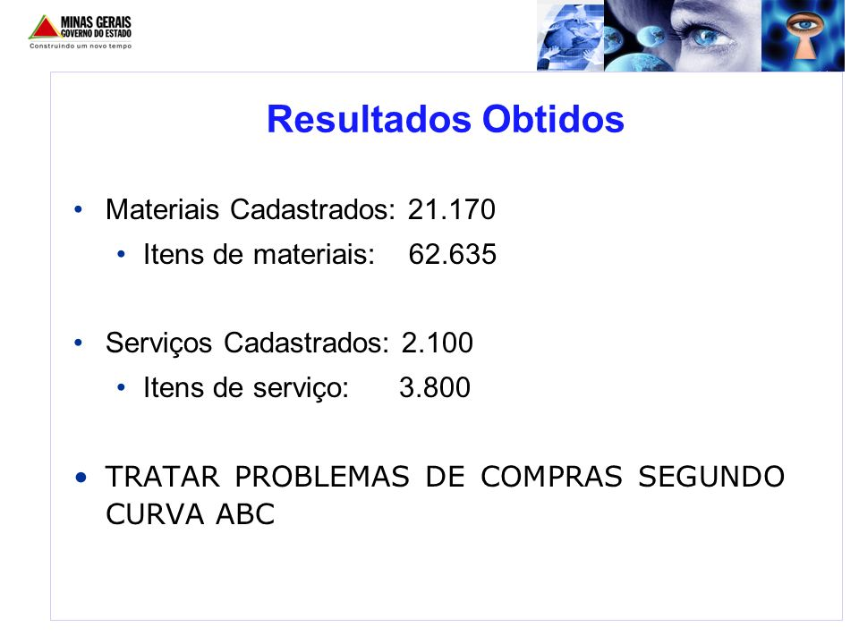 Resultados Obtidos Materiais Cadastrados: 21.170