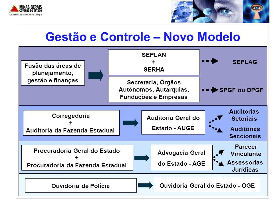 Gestão e Controle – Novo Modelo