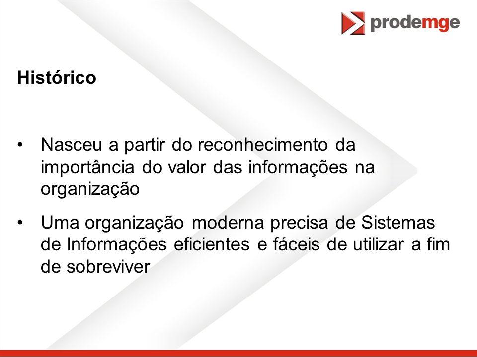 Histórico Nasceu a partir do reconhecimento da importância do valor das informações na organização.