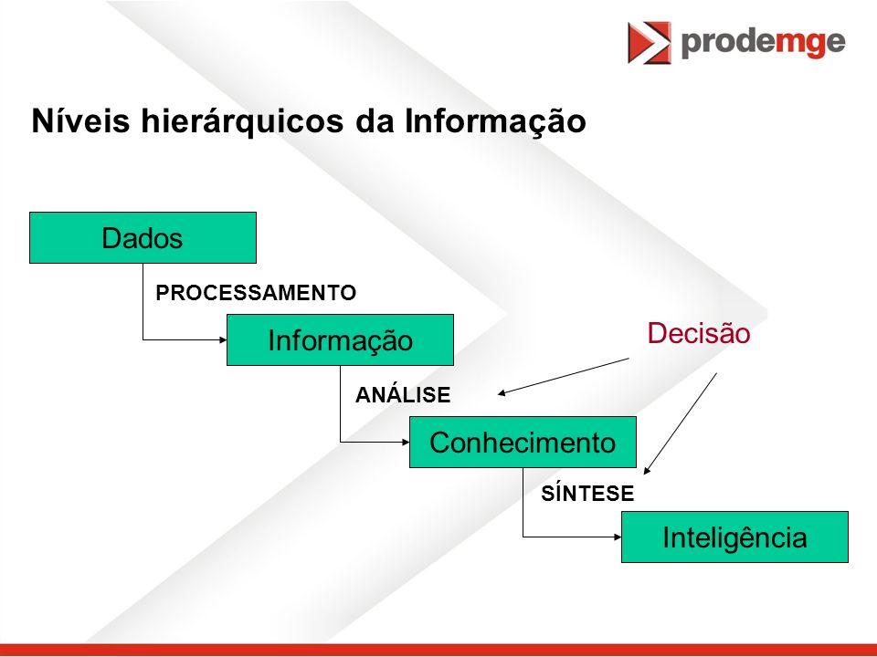 Níveis hierárquicos da Informação