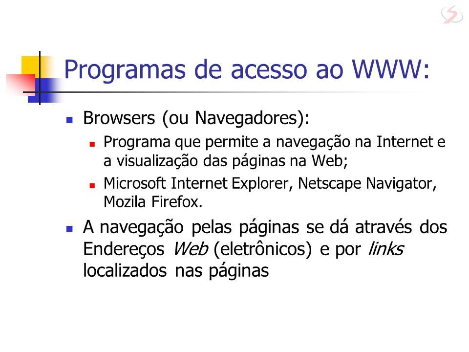 Programas de acesso ao WWW: