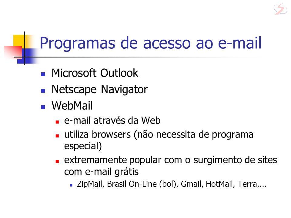 Programas de acesso ao e-mail