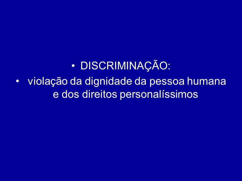 violação da dignidade da pessoa humana e dos direitos personalíssimos