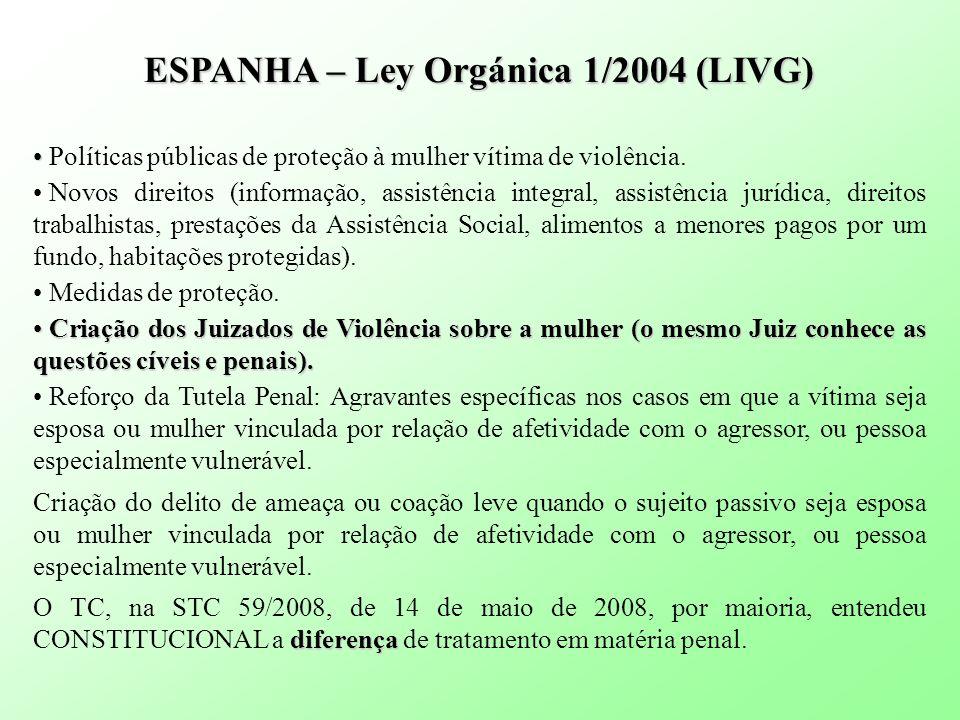 ESPANHA – Ley Orgánica 1/2004 (LIVG)