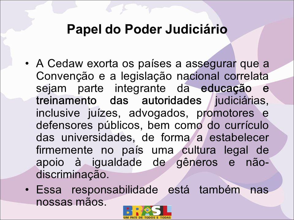 Papel do Poder Judiciário