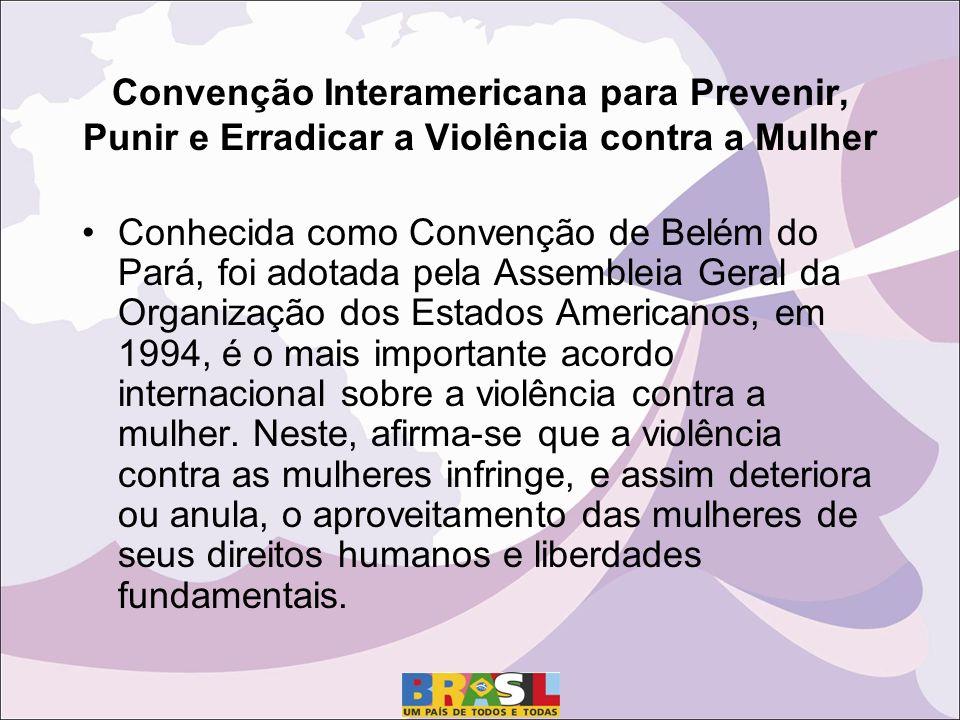 Convenção Interamericana para Prevenir, Punir e Erradicar a Violência contra a Mulher