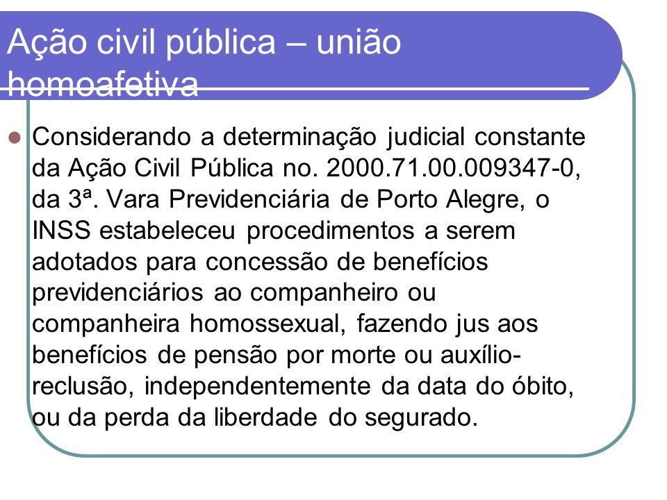 Ação civil pública – união homoafetiva