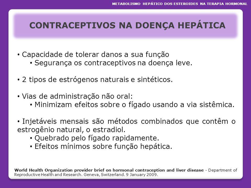CONTRACEPTIVOS NA DOENÇA HEPÁTICA