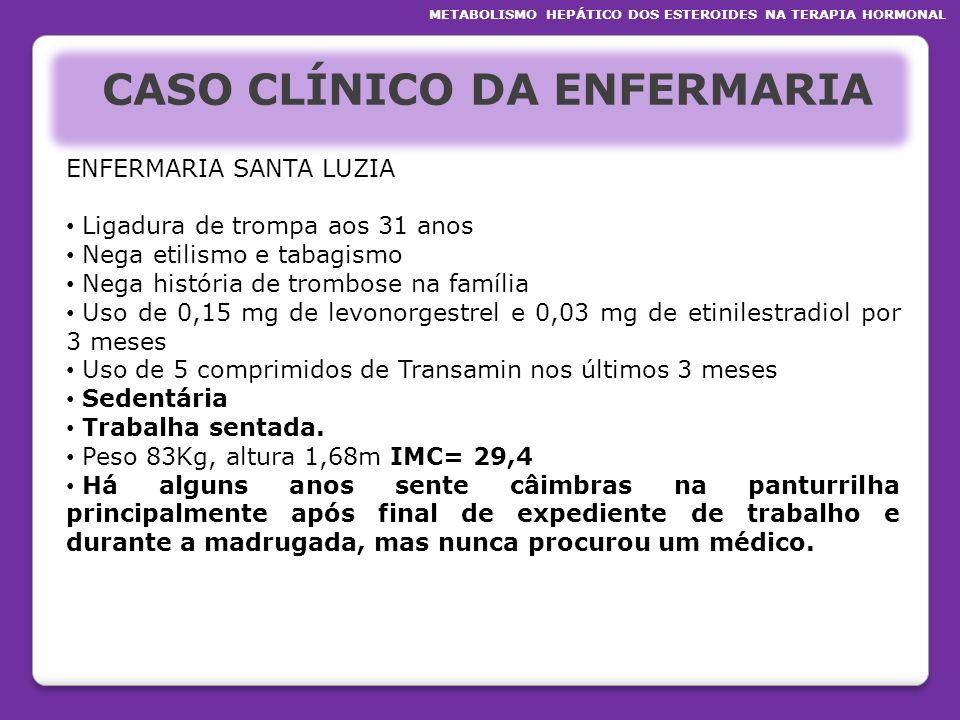 CASO CLÍNICO DA ENFERMARIA