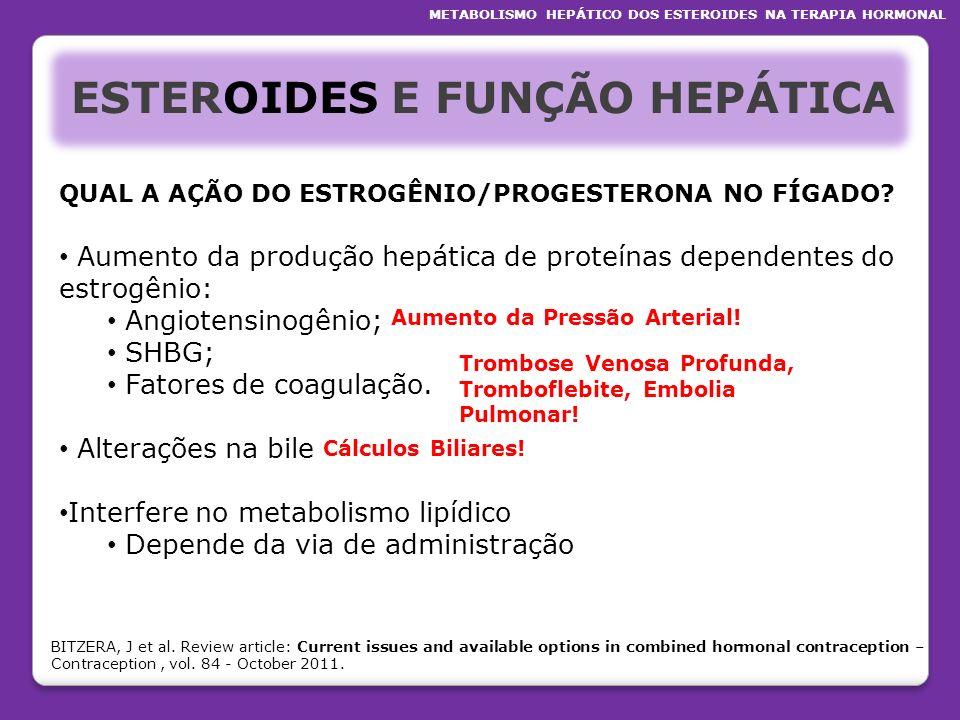 ESTEROIDES E FUNÇÃO HEPÁTICA