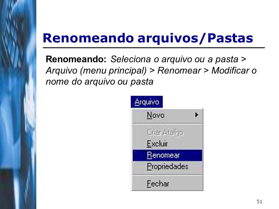 Renomeando arquivos/Pastas