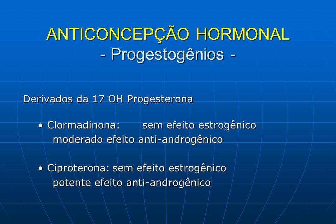 ANTICONCEPÇÃO HORMONAL - Progestogênios -