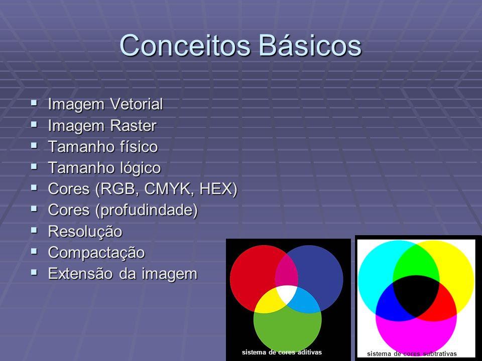 Conceitos Básicos Imagem Vetorial Imagem Raster Tamanho físico
