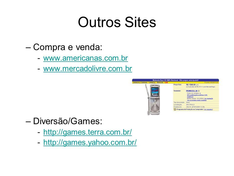 Outros Sites Compra e venda: Diversão/Games: www.americanas.com.br