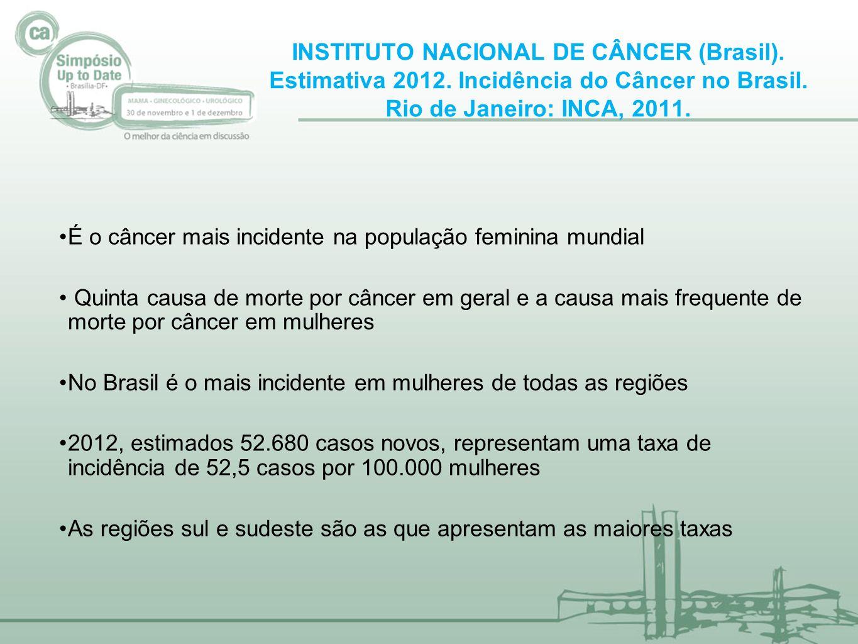 INSTITUTO NACIONAL DE CÂNCER (Brasil). Estimativa 2012