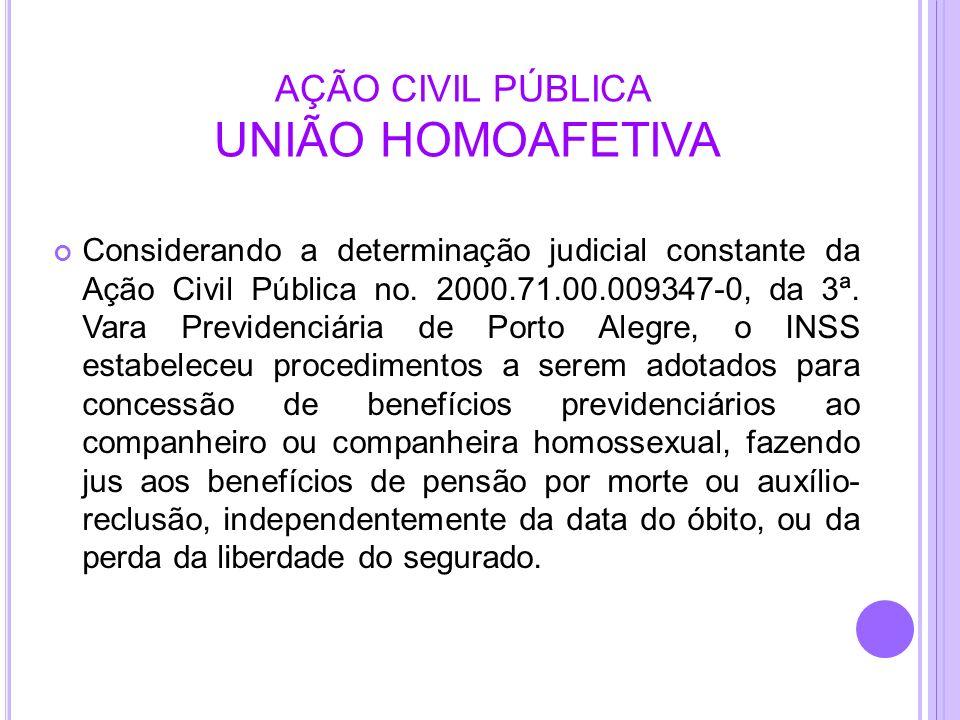 AÇÃO CIVIL PÚBLICA UNIÃO HOMOAFETIVA