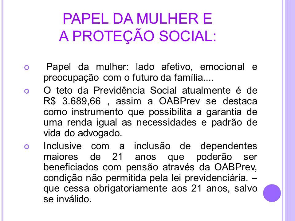PAPEL DA MULHER E A PROTEÇÃO SOCIAL: