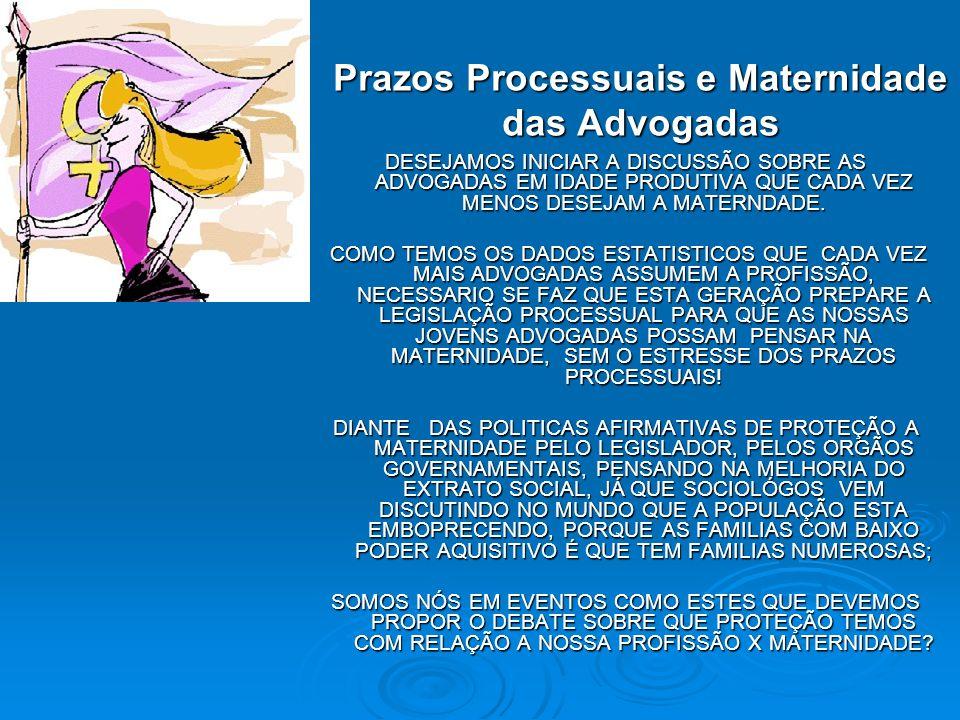 Prazos Processuais e Maternidade das Advogadas