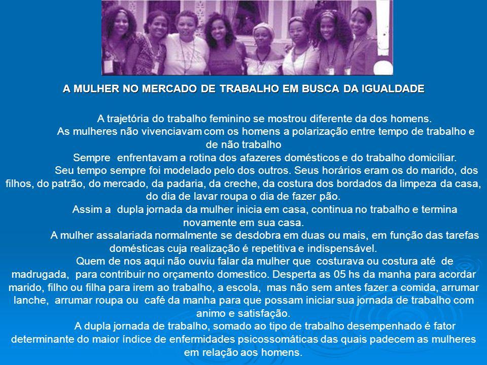 A MULHER NO MERCADO DE TRABALHO EM BUSCA DA IGUALDADE