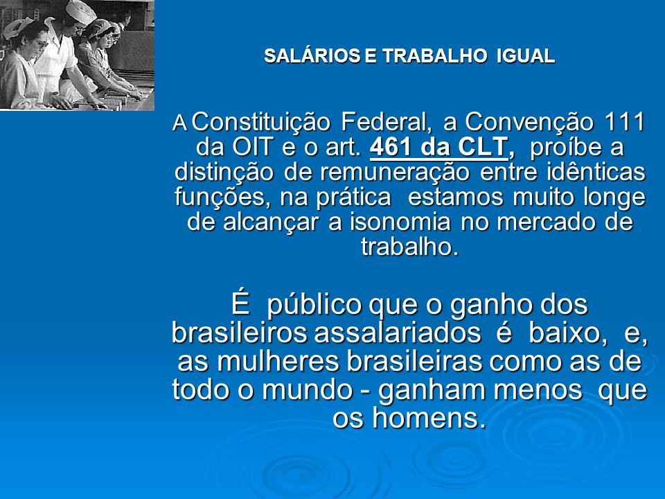 SALÁRIOS E TRABALHO IGUAL