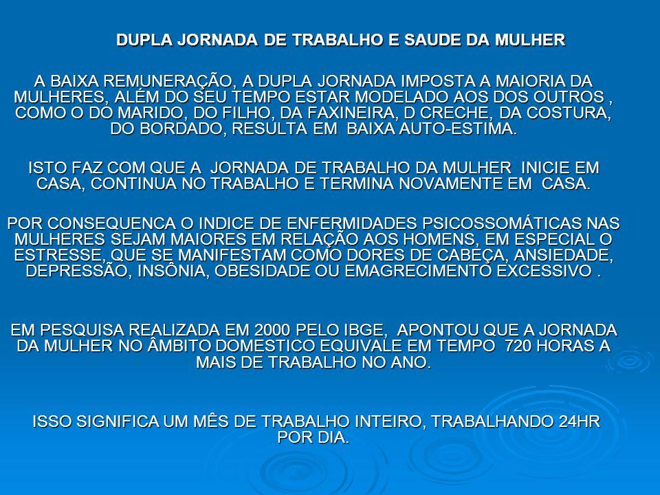 DUPLA JORNADA DE TRABALHO E SAUDE DA MULHER