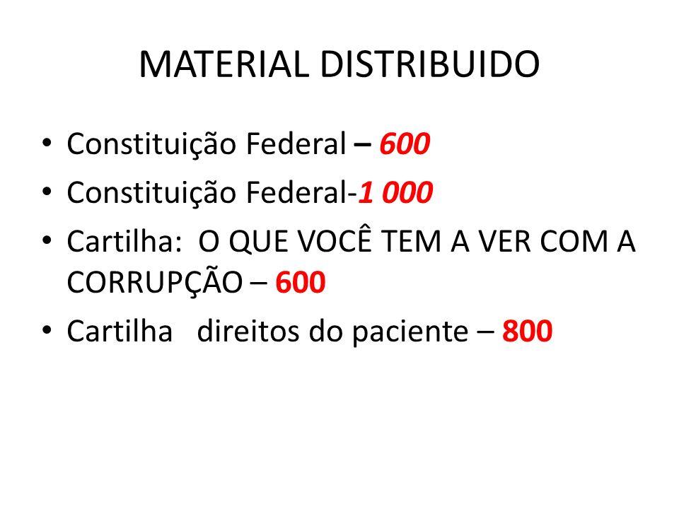 MATERIAL DISTRIBUIDO Constituição Federal – 600