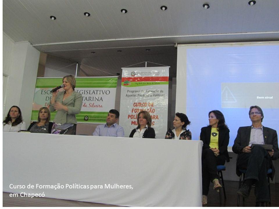 Curso de Formação Políticas para Mulheres, em Chapecó