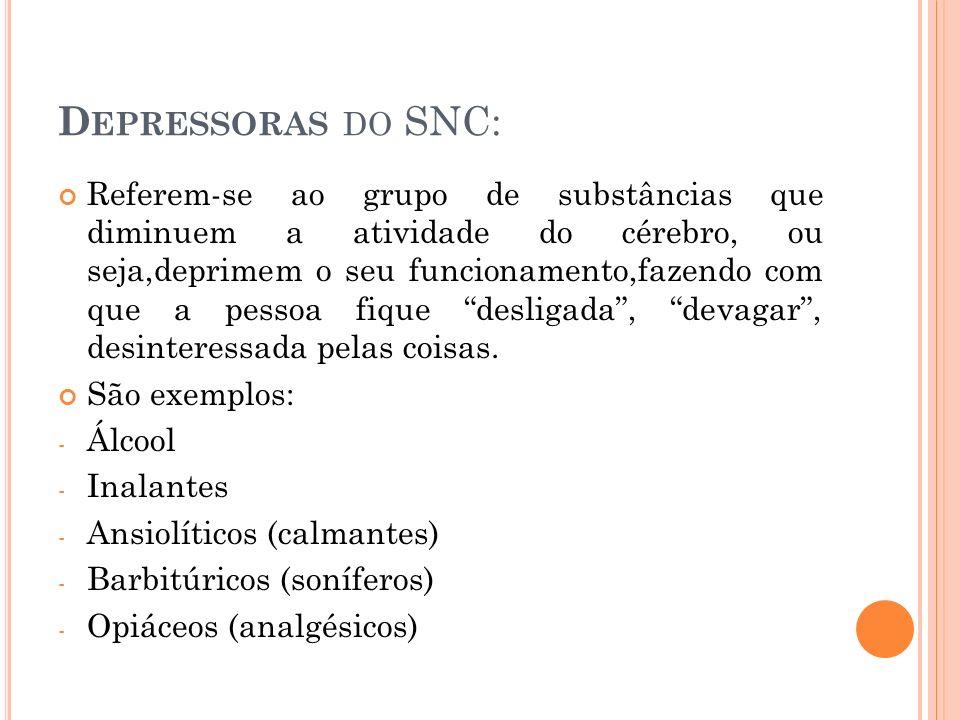 Depressoras do SNC: