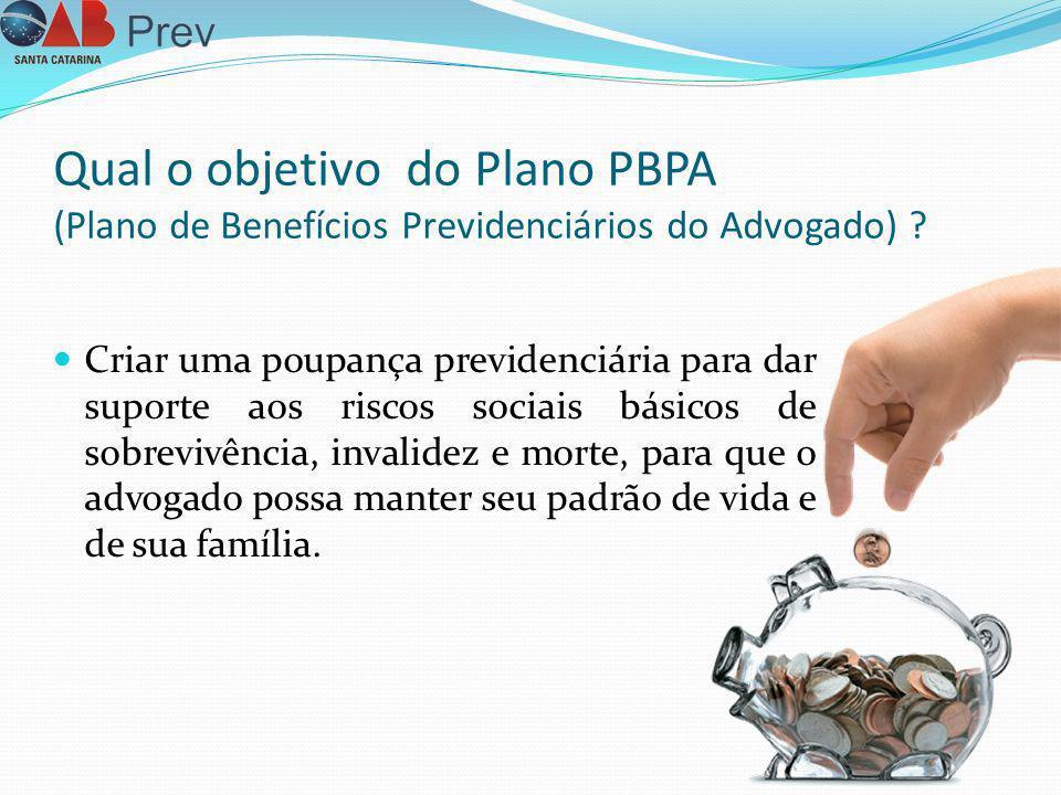 Qual o objetivo do Plano PBPA (Plano de Benefícios Previdenciários do Advogado)