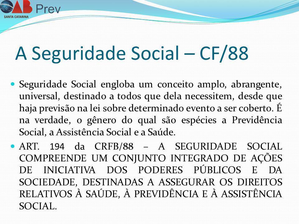 A Seguridade Social – CF/88