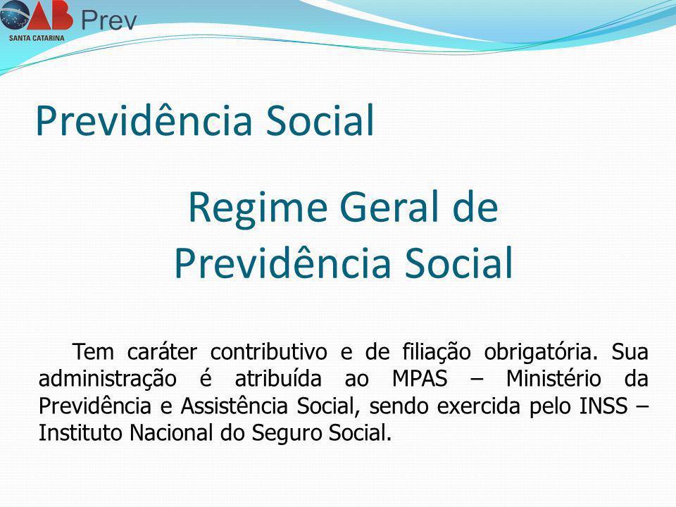Previdência Social Regime Geral de Previdência Social