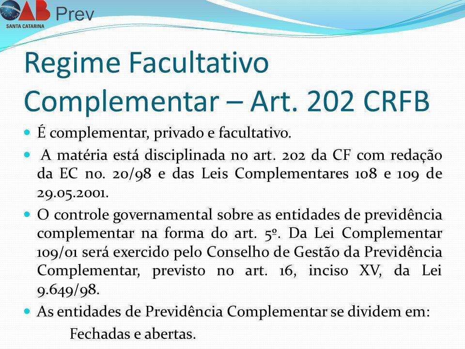 Regime Facultativo Complementar – Art. 202 CRFB