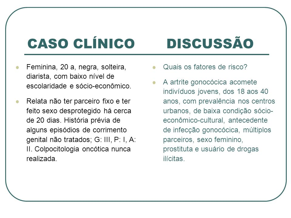 CASO CLÍNICO DISCUSSÃO