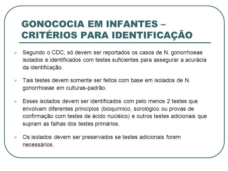 GONOCOCIA EM INFANTES – CRITÉRIOS PARA IDENTIFICAÇÃO