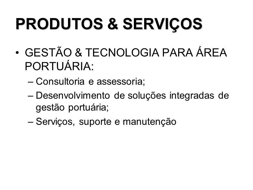 PRODUTOS & SERVIÇOS GESTÃO & TECNOLOGIA PARA ÁREA PORTUÁRIA: