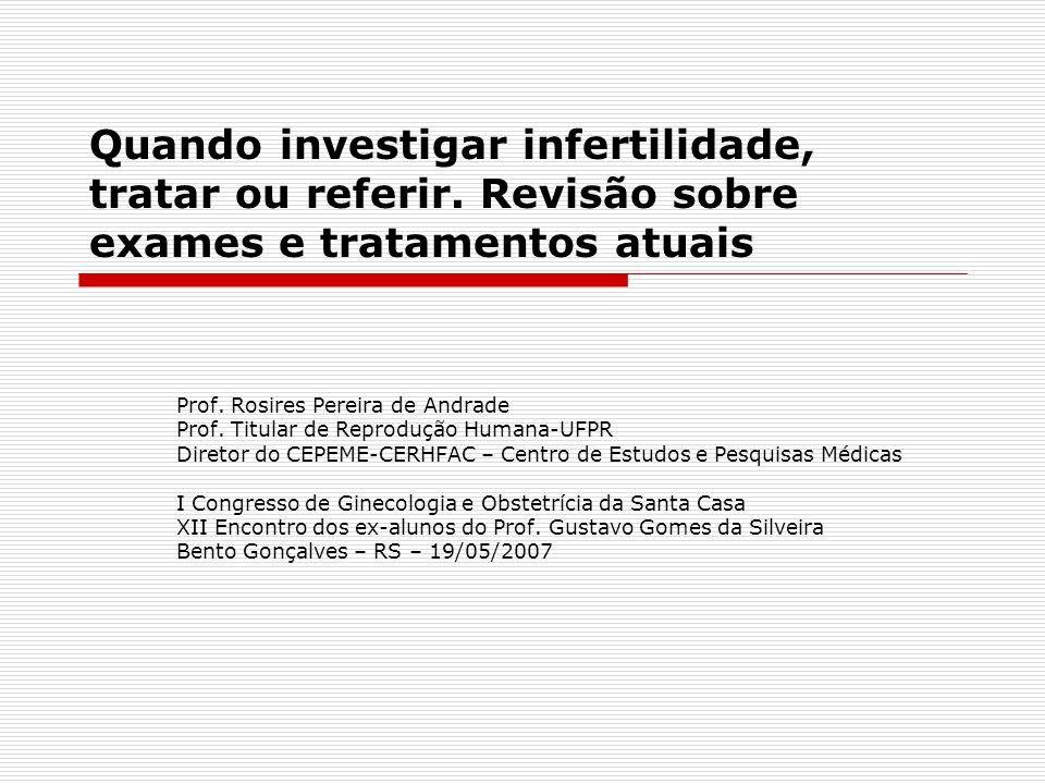 Quando investigar infertilidade, tratar ou referir