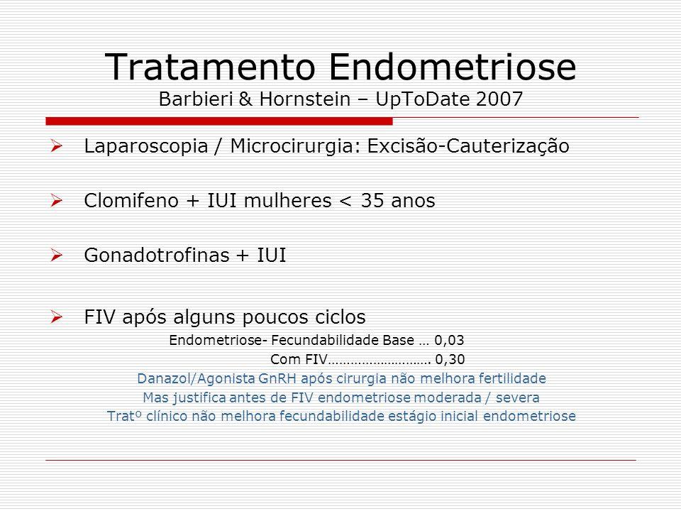 Tratamento Endometriose Barbieri & Hornstein – UpToDate 2007