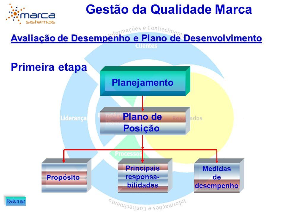 Primeira etapa Avaliação de Desempenho e Plano de Desenvolvimento