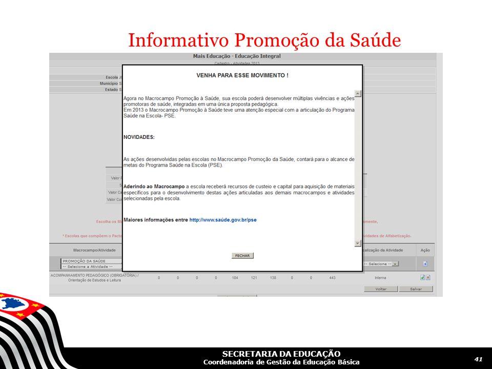 Informativo Promoção da Saúde