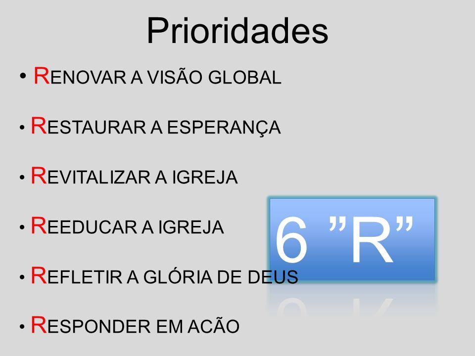 6 R Prioridades RENOVAR A VISÃO GLOBAL RESTAURAR A ESPERANÇA