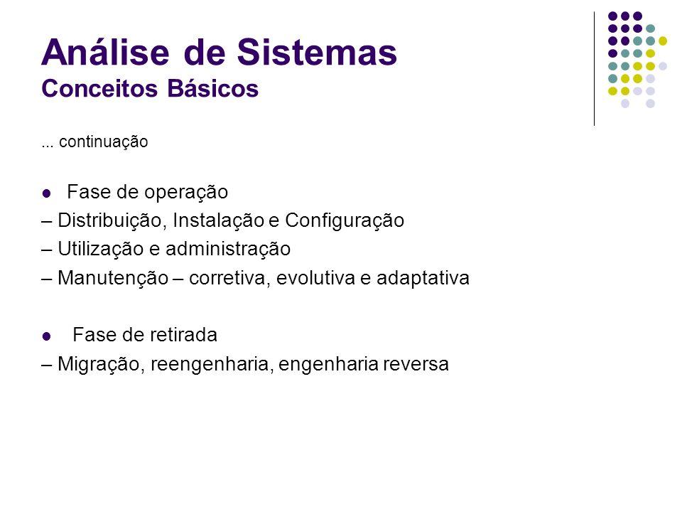 Análise de Sistemas Conceitos Básicos